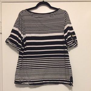 Charter Club black and white striped shirt